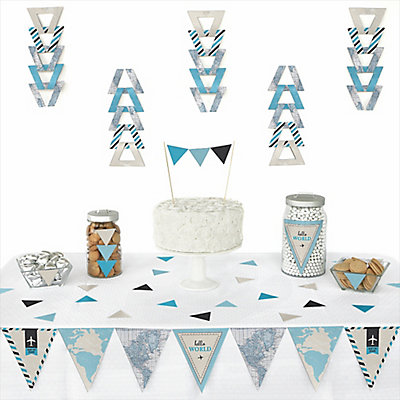 72 piece triangle baby shower decoration kit
