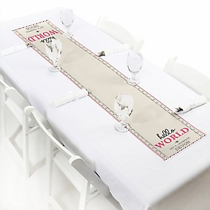 Precious Cargo - Pink - Personalized Baby Shower Petite Table Runner