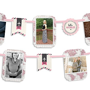 Precious Cargo - Pink - Baby Shower Photo Garland Banners