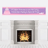 Pretty Princess - Personalized Baby Shower Banners