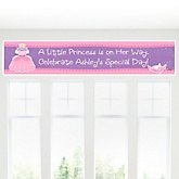 Pretty Princess - Personalized Baby Shower Banner