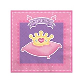 Pretty Princess - Baby Shower Beverage Napkins - 16 Pack