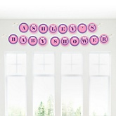 Pretty Princess - Personalized Baby Shower Garland Banner