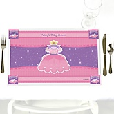 Pretty Princess - Personalized Baby Shower Placemats