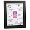 Pretty Princess - Personalized Baby Shower Signature Mat Gift