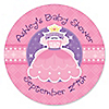 Pretty Princess - Personalized Baby Shower Sticker Labels - 24 ct