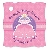 Pretty Princess - Personalized Baby Shower Tags - 20 Count