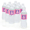 Pretty Princess - Personalized Baby Shower Water Bottle Label Favors