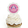 Pretty Princess - Personalized Birthday Party Cupcake Pick and Sticker Kit - 12 ct