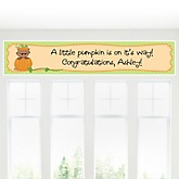 Little Pumpkin African American - Personalized Baby Shower Banner