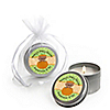 Little Pumpkin African American - Personalized Baby Shower Candle Tin Favors