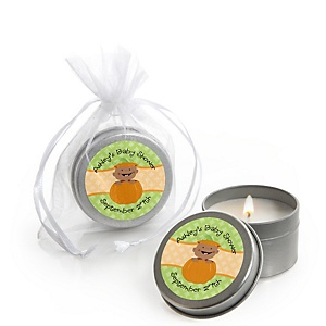 Little Pumpkin African American - Candle Tin Personalized Baby Shower Favors