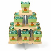 Little Pumpkin African American - Baby Shower Candy Stand & 13 Fill Your Own Candy Boxes
