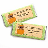 Little Pumpkin African American - Personalized Baby Shower Candy Bar Wrapper