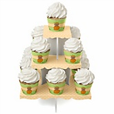 Little Pumpkin African American - Baby Shower Cupcake Stand & 13 Cupcake Wrappers
