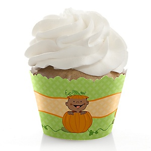 Little Pumpkin African American - Baby Shower Cupcake Wrappers