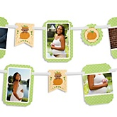 Little Pumpkin African American - Baby Shower Photo Bunting Banner