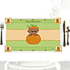 Little Pumpkin African American - Personalized Baby Shower Placemats