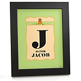 Little Pumpkin African American - Personalized Nursery Wall Art Gift