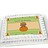 Little Pumpkin African American - Personalized Birthday Party Cake Toppers