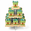 Little Pumpkin African American - Birthday Party Candy Stand and 13 Candy Boxes