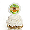 Little Pumpkin African American - Personalized Birthday Party Cupcake Pick and Sticker Kit - 12 ct