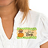 Little Pumpkin African American - Personalized Birthday Party Name Tag Stickers - 8 ct
