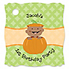 Little Pumpkin African American - Personalized Birthday Party Tags - 20 ct