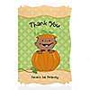 Little Pumpkin African American - Personalized Birthday Party Thank You Cards