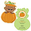 Little Pumpkin African American - Shaped Birthday Party Invitations