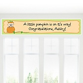 Little Pumpkin Caucasian - Personalized Baby Shower Banner