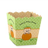 Little Pumpkin Caucasian - Personalized Baby Shower Candy Boxes