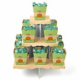 Little Pumpkin Caucasian - Baby Shower Candy Stand & 13 Fill Your Own Candy Boxes