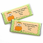 Little Pumpkin Caucasian - Personalized Baby Shower Candy Bar Wrapper