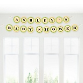 Little Pumpkin Caucasian - Personalized Baby Shower Garland Banner