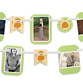 Little Pumpkin Caucasian - Baby Shower Photo Bunting Banner