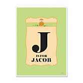 Little Pumpkin Caucasian - Personalized Baby Shower Poster Gifts