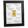 Little Pumpkin Caucasian - Personalized Baby Shower Signature Mat Gift