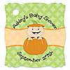 Little Pumpkin Caucasian - Personalized Baby Shower Tags - 20 ct