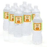 Little Pumpkin Caucasian - Baby Shower Personalized Water Bottle Sticker Labels - 10 Count
