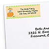 Little Pumpkin Caucasian - Personalized Birthday Party Return Address Labels - 30 ct