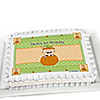 Little Pumpkin Caucasian - Personalized Birthday Party Cake Toppers