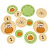 Little Pumpkin Caucasian - Personalized Birthday Party Table Confetti - 27 ct