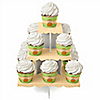 Little Pumpkin Caucasian - Birthday Party Cupcake Stand and 13 Cupcake Wrappers