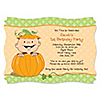 Little Pumpkin Caucasian - Personalized Birthday Party Invitations