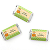 Little Pumpkin Caucasian - Personalized Birthday Party Mini Candy Bar Wrapper Favors - 20 ct