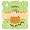 Little Pumpkin Caucasian - Personalized Birthday Party Tags - 20 ct