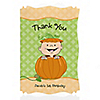 Little Pumpkin Caucasian - Personalized Birthday Party Thank You Cards
