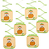 Little Pumpkin Caucasian - Birthday Party Hanging Decorations - 6 ct