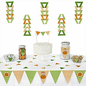 Little Pumpkin Caucasian - 72 Piece Triangle Party Decoration Kit